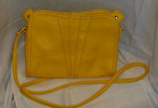 Shoulder Bag by Ming Faux Pebble Leather Yelow/gold 9 by 6 1/2 inches