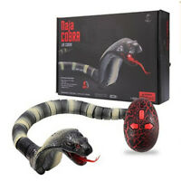 Lifelike Remote Control Snake  w/ Retractable Tongue & Swinging Tail -B