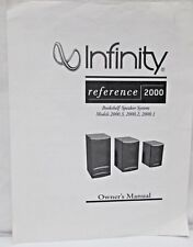 Infinity Reference 2000 Owners Manual Bookshelf Speaker System Specifications