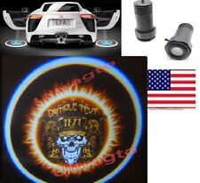 2X Ghost Shadow Cree Led Car Door Logo Sample Text Skull Laser Projector Light