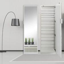 180CM Spiegelschuhschrank in Weiß Flur Schrank Kommode Schuhschrank Schuhregal