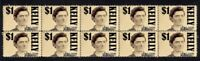 NED KELLY AUST BUSH RANGER STRIP OF 10 MINT VIGNETTE STAMPS 1