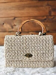 Ownstyle New Style Classic Type Retro Wood Purse Handle Wood Bag Handle Shopping Bag Handle Carriers Retro Color Wooden Bag Handle Vintage Purse Handles for Sewing 2 Pcs A Pack