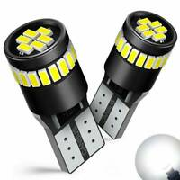2* CANBUS Error Free T10 501 194 W5W SMD 24 LED Car HID White Wedge Light Bulb