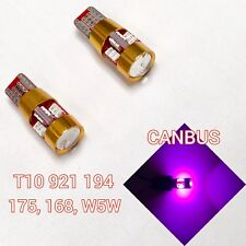 T10 921 w5w 168 194 2825 12961 Purple LED Bulb 3rd brake light B1 For Acura B