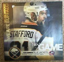 2014-15 Buffalo Sabres program 10/9/14 Drew Stafford cover v Blue Jackets