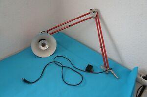 Retro DDR Scherenlampe Schreibtischlampe Rot