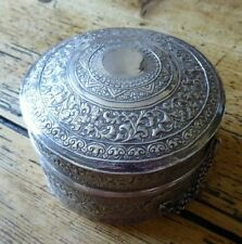 Vintage Chinese silver box and lid (PM)