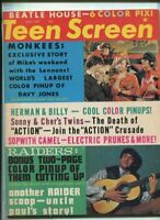 Teen Screen May 1967 Monkees,Sonny & Cher,Electric Prunes,Raiders    MBX25