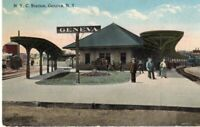 Early NYC Station At Geneva New York NY Railroad Depot Station RR !!!