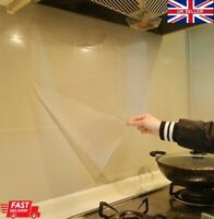 Kitchen Stove Hob Gas Transparent Oil Separation Wall Sheet Wall Film Sticker UK