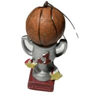 Basketball Trophy Christmas Tree Ornament Sports Theme 1st Place Silver Cup