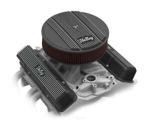 """Holley 120-153 Black Finned Air Cleaner Assembly 14"""" Round Vintage Series"""
