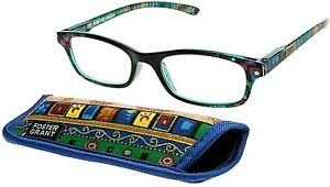 Foster Grant Allegra Women's Multicolor Reading Glasses w Case Spring Hinges