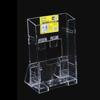 Clear Acrylic Business Card Holder Brochure Desk Stand Pamphlet Display SALE Hig