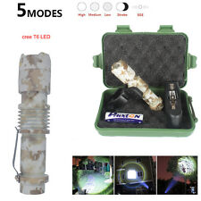 Tactical Flashlight 5000 lm CREE T6 LED Military Torch Bike Light Mount 13CM New