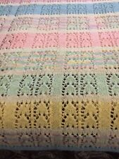 Hand Knitted Afghan 48� X 60�