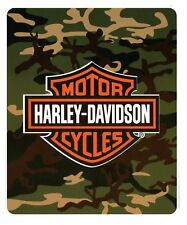 Harley Davidson Camouflage fleece blanket  throw NEW