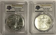 (2) 2017 $1 Silver Eagle PCGS MS70 First Strike - 225 Years  - Consecutive SN#s