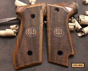 Beretta 92S Turkish Walnut Wood Grips. Checkered. Handmade.