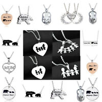 Mother Father Son Daughter Christmas Gift Xmas Family Pendant Silver Necklace