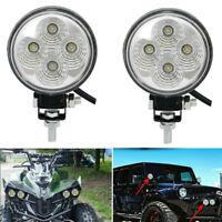 2X 3.5 inch 48W Round Flood Beam LED Work Light Driving Fog Lights Front Bumper