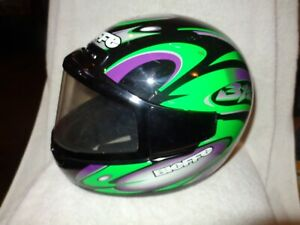VINTAGE BIEFFE DOT MOTORCYCLE HELMET SIZE: XX LARGE 62 GR 1500 Made In Italy XXL