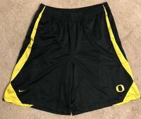Nike Team Oregon Ducks NCAA Basketball Shorts Black, Yellow Men's Large