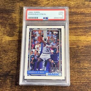 1992 Topps Shaquille O'Neal ROOKIE RC #362 PSA 9 MINT - Orlando Magic - HOF