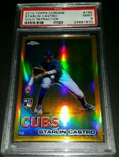 2010 Topps Chrome #195- Starlin Castro Gold Refractor RC #48/50/! PSA 9!