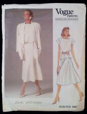 VOGUE 1387 American Designer JOHN ANTHONY Pattern Size 16 UNCUT Factory Folds