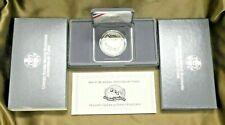 1991 S Mount Rushmore Proof Silver Dollar Commemorative Coin Set Box COA