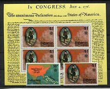 Bahamas 396/97 Block 16 postfrisch / Geschichte - USA ....................1/2938
