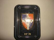 French Army 24eme RI Metal Badge Made By ARTHUS-BERTRAND + Original Display Box