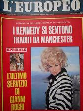 L' Europeo n°13 1967 - L'ultimo servizio di Gianni Roghi - Kennedy - Curtis[C55]