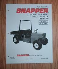 SNAPPER GROUNDS CRUISER GC9520KW PARTS MANUAL