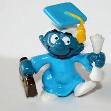 Vintage Smurf Schleich Figure 1980 Peyo W. Berrie Graduate PVC NEW NOS