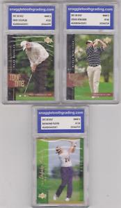 Lot of 3 - 2001 - Fred Couples, Steve Stricker, Raymond Floyd - GRADED!!!