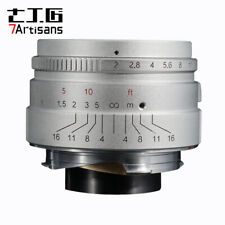 SILVER ✮ 7Artisans 35mm f/2.0 Wide-Angle lens for Leica-M-mount M6 M9 M10 ✮ 35/2
