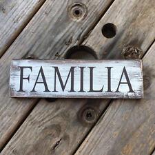 Wooden plaque. Spanish Familia. Farmhouse decorating. Wall décor Hispanic home.