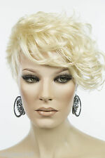 Short Chic Glamorous Arty Asymmetrical Pixie Wavy Blonde Brunette Red Wigs