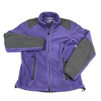 LL Bean Polartec Fleece Lined Purple Full Zip Womens Coat Jacket Small