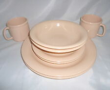 Vtg Tupperware Dishes Lot Plates Bowls Cups Dusty Pink Durable Melmac Camping