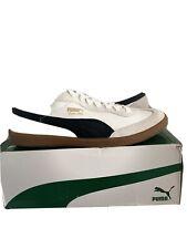 Men's Shoes PUMA SUPER LIGA OG RETRO Leather Sneakers WHITE / BLACK NEW IN BOX