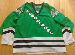 vtg Florida Everblades Hockey Jersey Large XL ECHL Jersey Express Replica Green