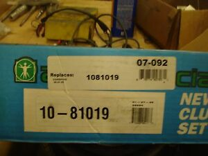Clutch Kit 1081019 07 035 FORD TRUCK AUTO SPECIALTY FREE SHIPPING