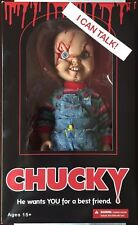 "Mezco Toyz Talking Scarred Chucky Childs Play Horror Mega Scale 15"" Doll 78003"
