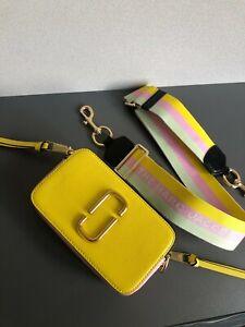 Marc Jacobs The Logo Strap Snapshot Small Women's Camera Bag - Yellow multi