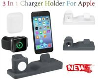 For Apple Watch/Airpods/iPhone 3 In 1 Charging Stand Dock Station Charger Holder