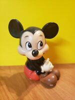 Vintage Mickey Mouse Bank - Walt Disney Productions - Made In Korea - Rubber